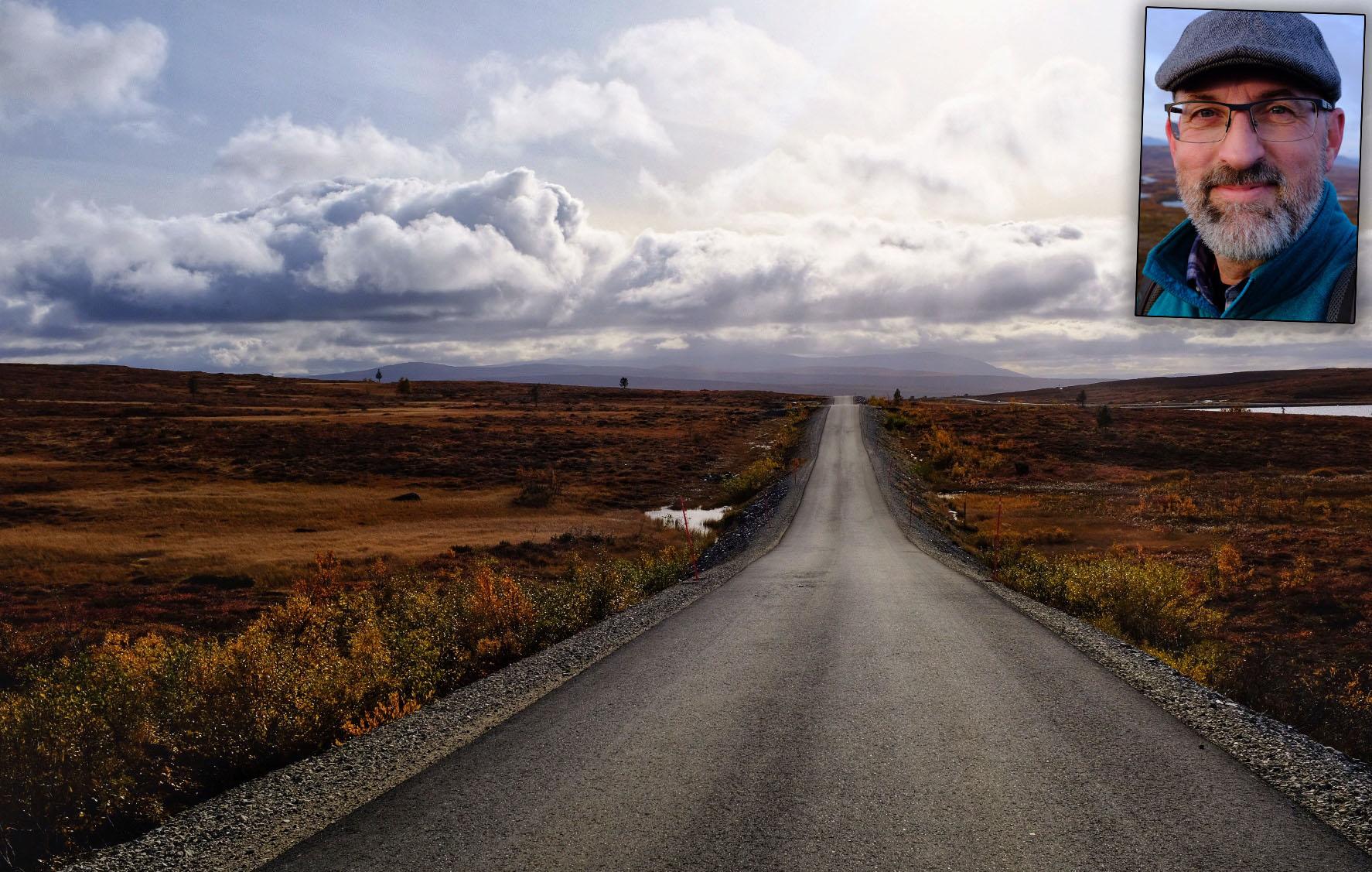 Rolfs egna foto av landskapet under en fjällvandring.